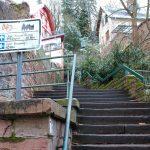 Treppe zum Schloss Heidelberg