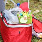 Picknickkorb mit Osterkorb
