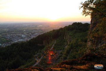 Steinbruch Schriesheim Ölberg Ausblick Sonnenuntergang