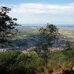 Ausblick vom Ölberg über Rheinebene bis zur Pfalz