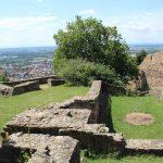 Ruine Schauenburg mit Blick über Dossenheim und die Rheinebene