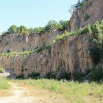 Steilwand Steinbruch