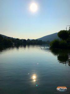 Sonne über Neckar