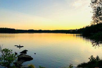 Schweden See Sonnenuntergang
